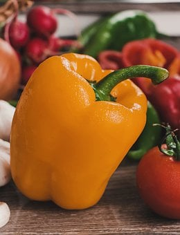 Pepper, Yellow, Food, Food Photography, Vegetables