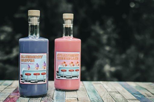 Blueberry Liqueur, Strawberry Liqueur, American, Style