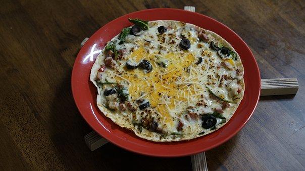 Pizza, Gorgonzola, Thin Pizza