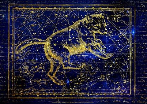 Constellation, Big Bar, Ursa Major Zodiac, Sky