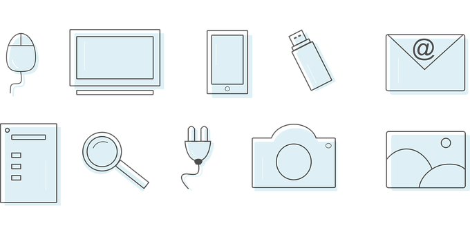 Icons, Technology, Vector, Computer, Smartphone