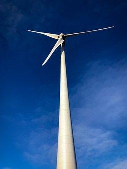 éolienne, Vent, Ciel, Nature, Electricité, Wind Turbine