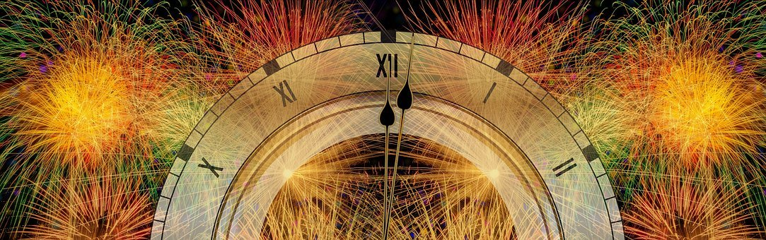 New Year's Day, Year, New Year's Eve, Clock, Fireworks
