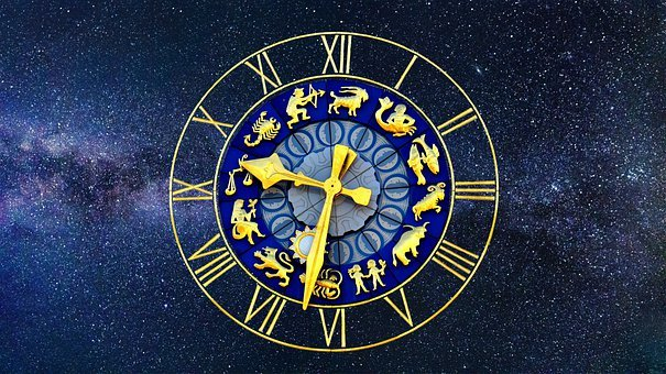 Clock, Zodiac Sign, Time Of, Pointer