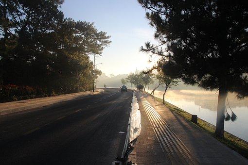 Vietnam, Asia, Nature, Landscape, Lake, Sky, Morning