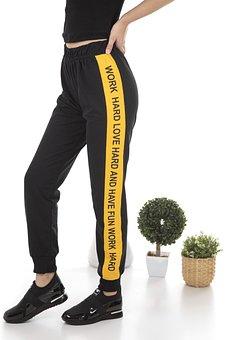 Sweatpants, Yellow, Article, Brand