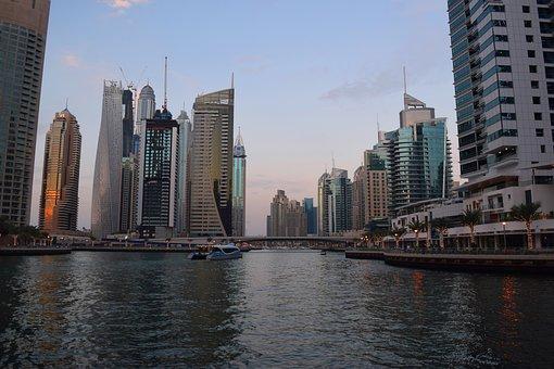 Dubai, Marina, Jb, Uae, Sky, Water, Travel, Building