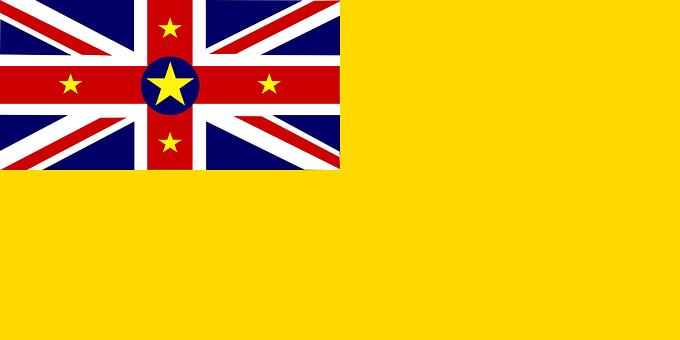 Flag, Niue, Oceania, Golden, Yellow