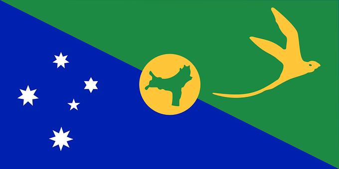 Christmas Island, Flag, Territory, Australia, Island