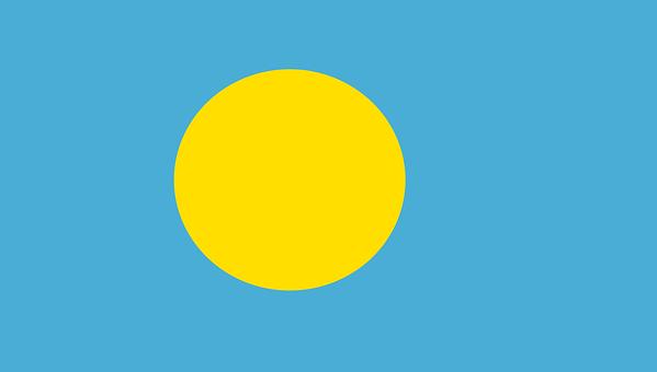 Flag, Palau, Micronesia, Oceania, Civil