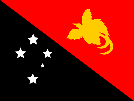 Flag, Papua, New Guinea, Oceania