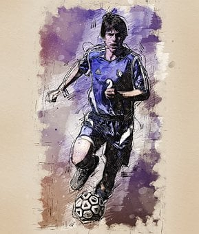 Football Player, Player, Sportsman, A Football Player