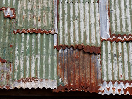 Corrugated, Iron, Rust, Metal, Roof, Galvanized