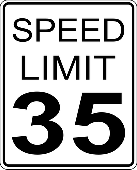 Speed, Limits, Sign, United States