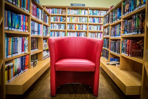 Chair, Library, Education, Book Stack, Knowledge