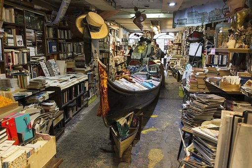 Venice, Library, Book, Books, Shop, Reading, Chaotic