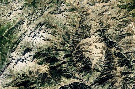 Mountain, Elevation, Map