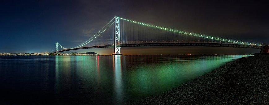 Night Panorama, The Akashi-kaikyo Bridge
