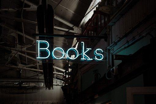 Books Sign, Neon Sign, Neon, Sign, Chelsea Market, Shop