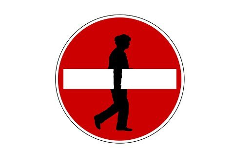 Man, Silhouette, Board, One Way Street, Traffic Sign