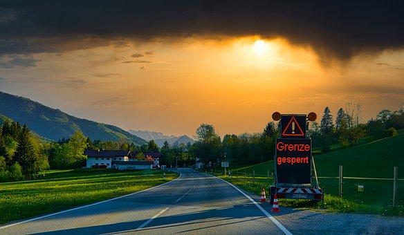 Border, Corona, Austria, Bavaria, Blocking, Freedom