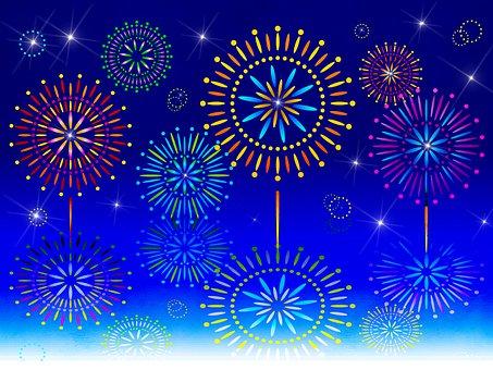Fireworks, Digital Paper, Texture, Pattern, Template