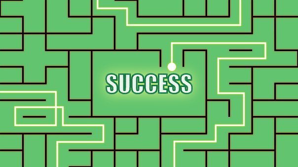 Success, Path, Maze, Concept, Green, Career, Challenge