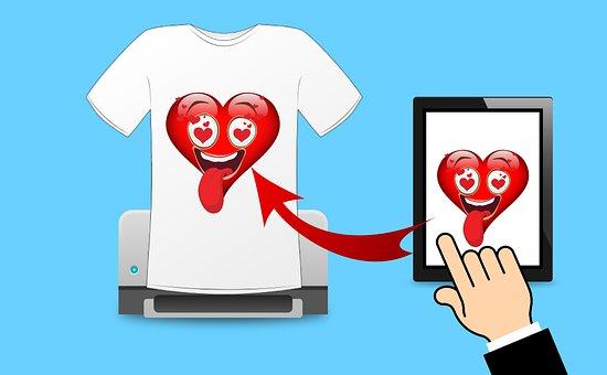 Print, Tshirt, Screen, Machine, Printer, Fabric