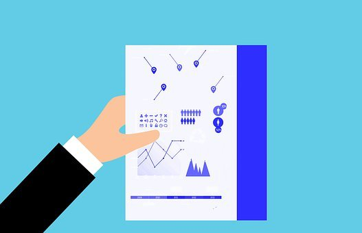 Analytics, Paper, Hand, Holding, Business, Plan