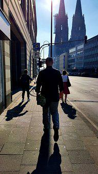 Pedestrian, Backlighting, Shadow, Comedy Street