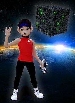 Space, Volcano, Star Trek, Spock