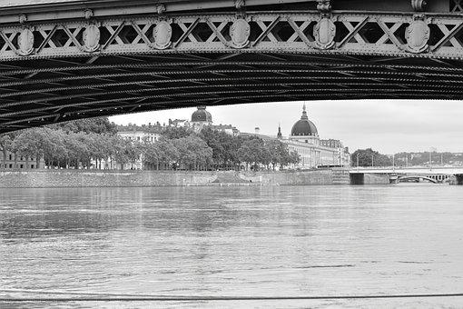 Lyon, France, Rhone, Architecture, Monument, Bridge
