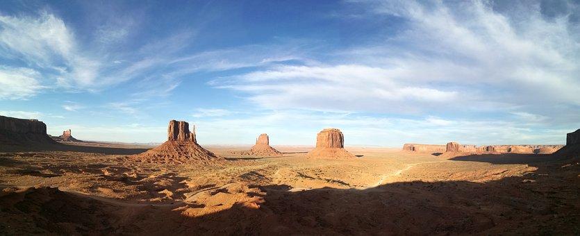 Monument Valley, America, Landscape, Desert, Indians