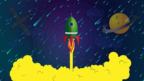 Rocket, Space, Spaceship, Nasa, Start, Science, Cartoon