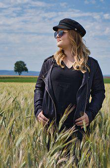 Young Woman, Wheat Field, Woman, Field, Girl, Young