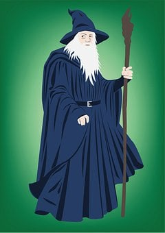 Gandalf, Lord Of Rings, Sorcerer, Wizard, Hat, Beard