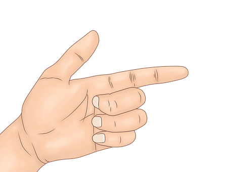 Hand, Hand Pointing, Pointing, Weapon, Drawing Of Hand