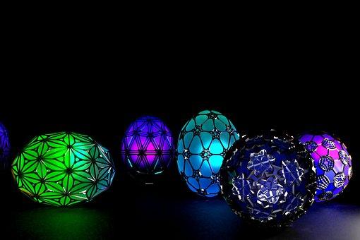 Easter Eggs, Dragon Eggs, Easter, 3d, Three Dimensional