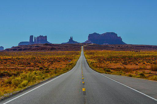 Monument, Valley, Arizona, Desert, Landscape, Usa, Red