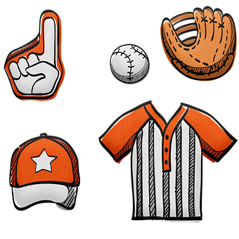 Baseball, Finger, Stress, Ball, Mitt, Logo, Hat, Shirt