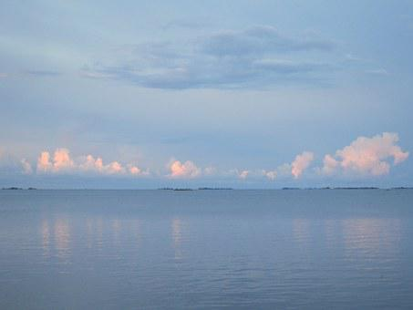 Himmel, Sea, Archipelago, Mirroring, Evening Sun