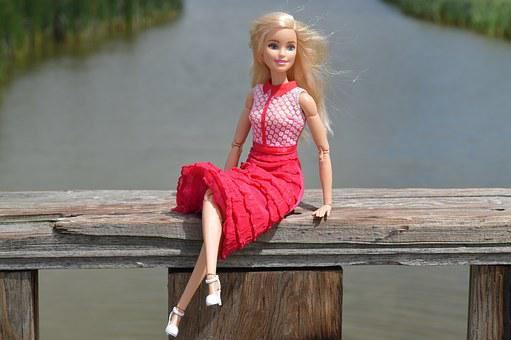 Doll, Barbie, Blonde, Posing, Model, Girl, Glamour