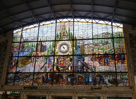 Facade, Railway Station, Bilbao, Spain