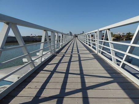 Bridge, Symmetry, Architecture, Shadow, Lines