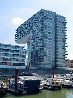 Cologne, Crane Homes, Architecture, Building, Facade