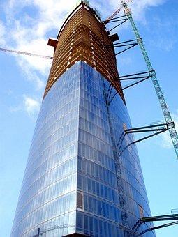 Torre Iberdrola, Bilbao, Spain, Construction Site