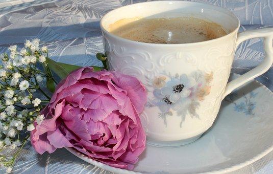 Coffee Cup, Cup, Coffee, Saucer, Good Morning