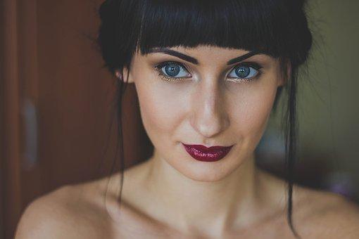 Woman, Girl, Cute, Eyes, Model, Lips, Portrait