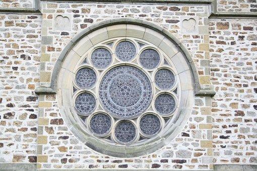 Window, Church, Rosette, Exterior, Saint, Bartholomew