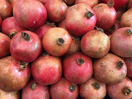 Pomegranate, Fruit, Food, Red, Healthy, Health, Fresh